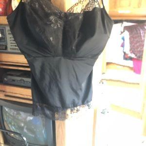 Lace camisole black